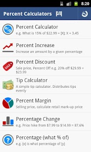 Percent Calculator - Full - screenshot thumbnail