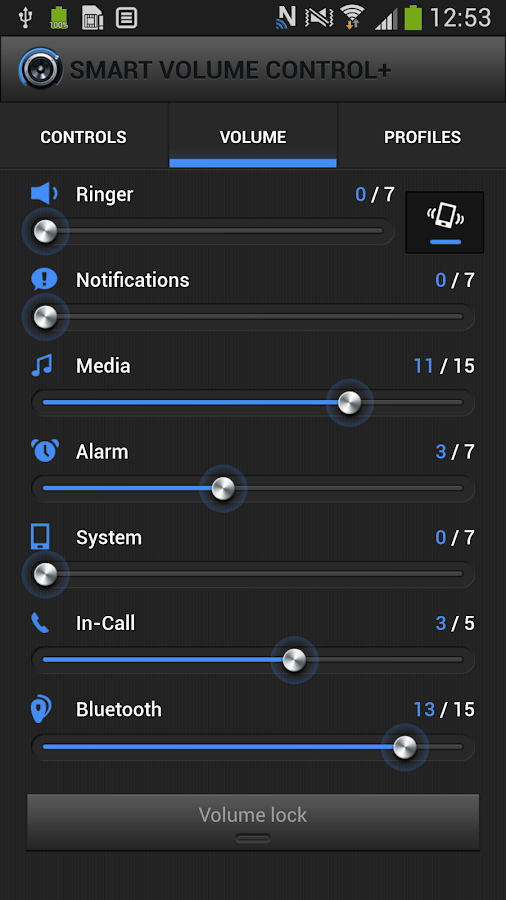 Smart Volume Control + - screenshot