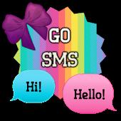 GO SMS - Bows N Rainbows