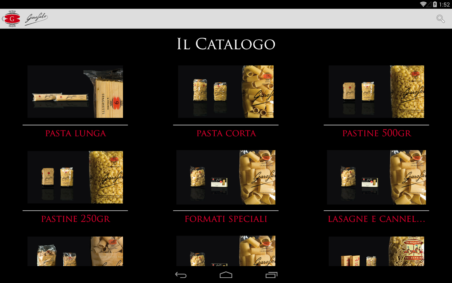 Garofalo Catalogo Prodotti- screenshot