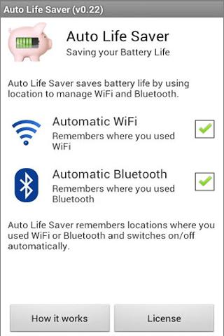 Auto WiFi + Bluetooth Battery - screenshot