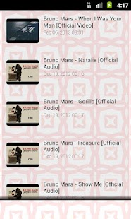 Bruno Mars Song Lyrics - screenshot thumbnail