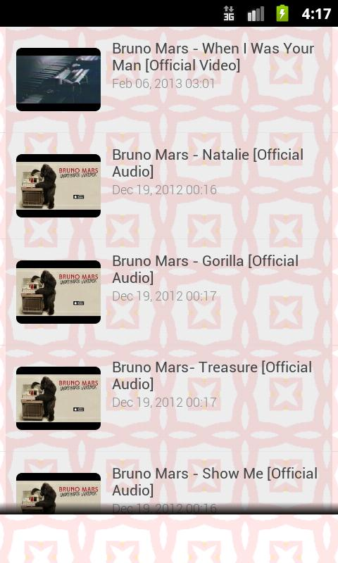 Bruno Mars Song Lyrics - screenshot
