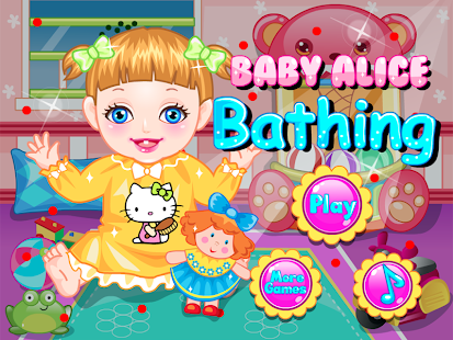 Cute Baby Bath Bed Time