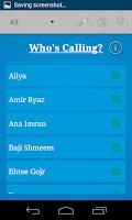 Screenshot of Who's calling?