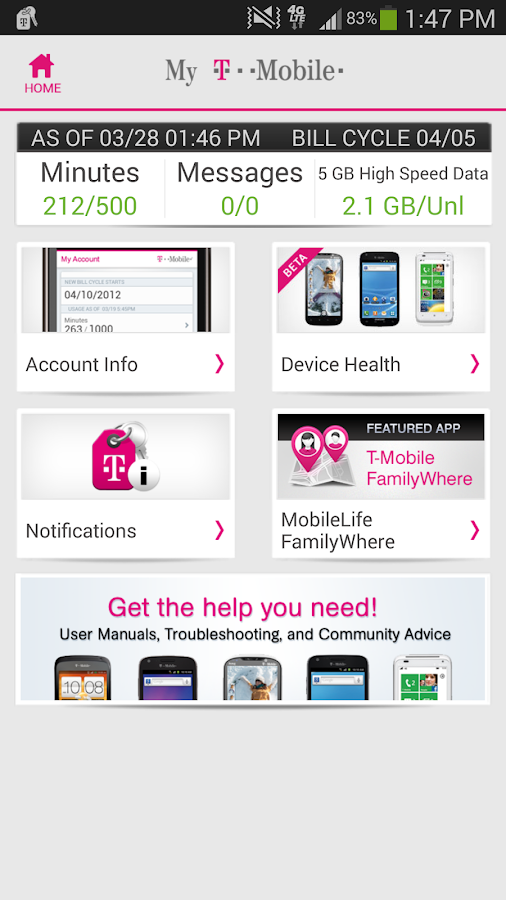 T-Mobile MyAccount [Legacy]- screenshot