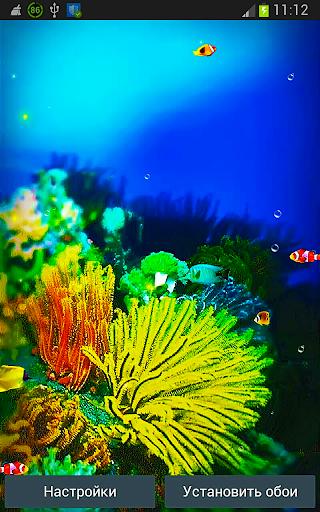 Galaxy S5 Рыбки Живые Обои
