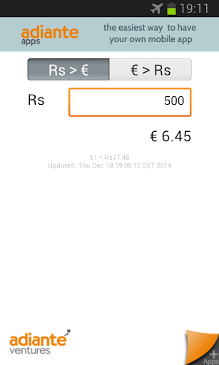 Euro to Indian Rupee