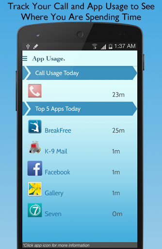 【免費生產應用App】BreakFree Cell Phone Addiction-APP點子