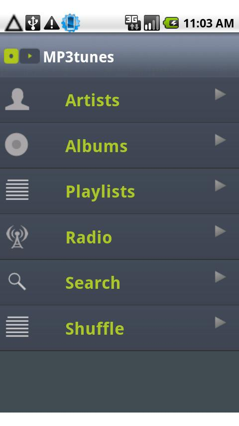 MP3tunes - screenshot