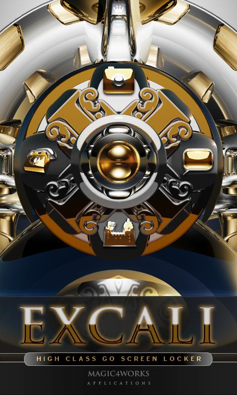 3D excali GO Locker theme - screenshot