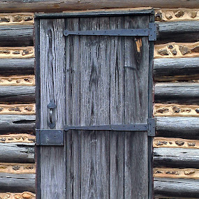 Log Cabin Door by Lew Davis - Buildings & Architecture Public & Historical ( logs, historic buildings, georgia, historic building, log houses, log cabin, lew davis, log, andersonville, old churches, old buildings, log cabins, log churches, wood, pwc,  )