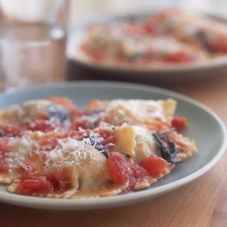 Beef Ravioli with Fresh Tomato Sauce