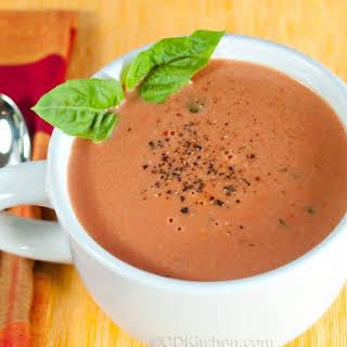 La Madeleine's Tomato-Basil Soup.