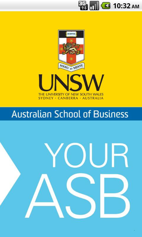 'Your ASB' at UNSW - screenshot