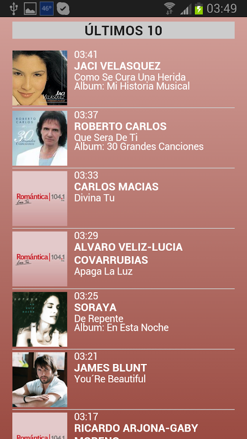 Radio Romantica 104.1 en vivo - screenshot