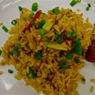 Roasted Vegetable Spanish Rice.