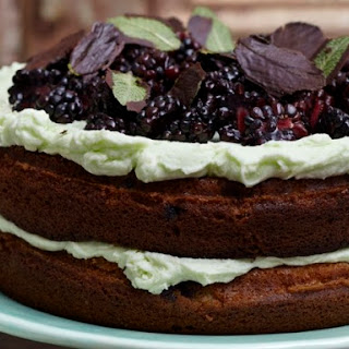 Blackberry Mint Cake