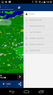 Realtime rainradar Europe- screenshot thumbnail