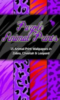 Screenshot of Purple Animal Prints Wallpaper