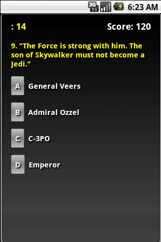 The Empire Strikes Back Trivia - screenshot