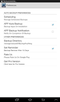 Screenshot of Backup SMS, Contacts & Apps