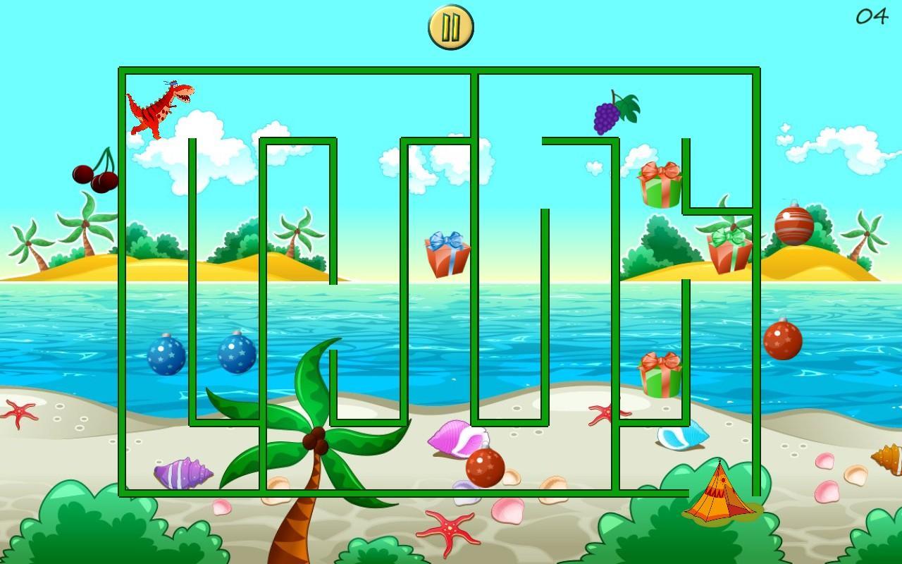 dino maze mazes for kids screenshot
