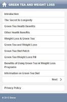 Screenshot of Green Tea and Weight Loss