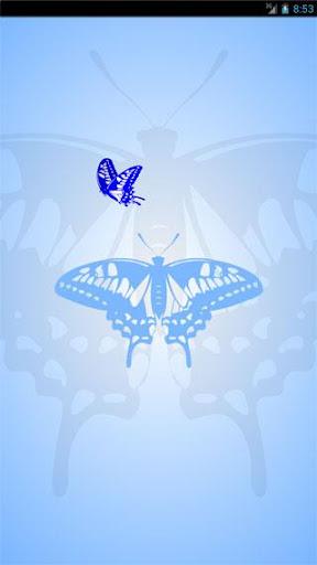待受を飛びまわる蝶 -ライブ壁紙-