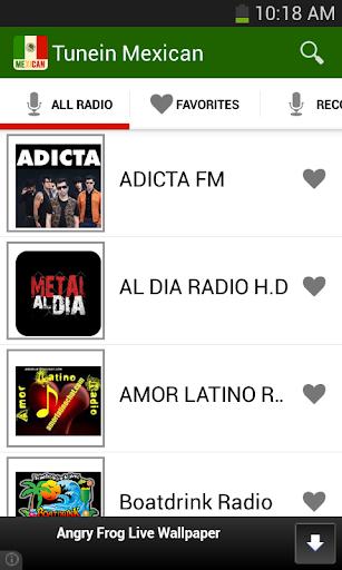 Tunein Mexican Radio