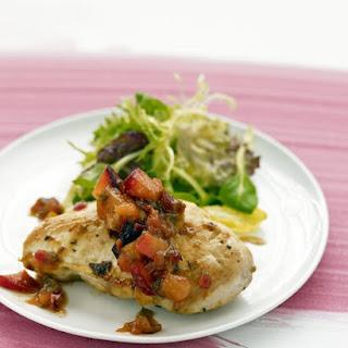 Chicken with Plum Chutney.