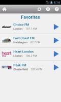 Screenshot of British Radio