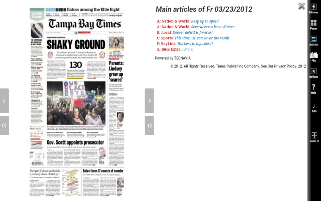Tampa Bay Times NIE 2012- screenshot