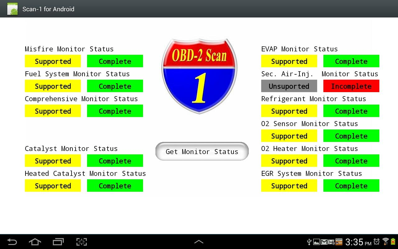Scan-1 4 Android Demo - screenshot