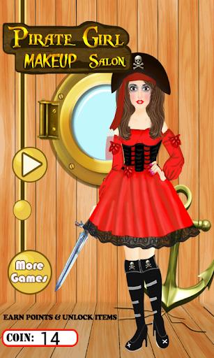 海賊の女の子のメイクアップ サロン