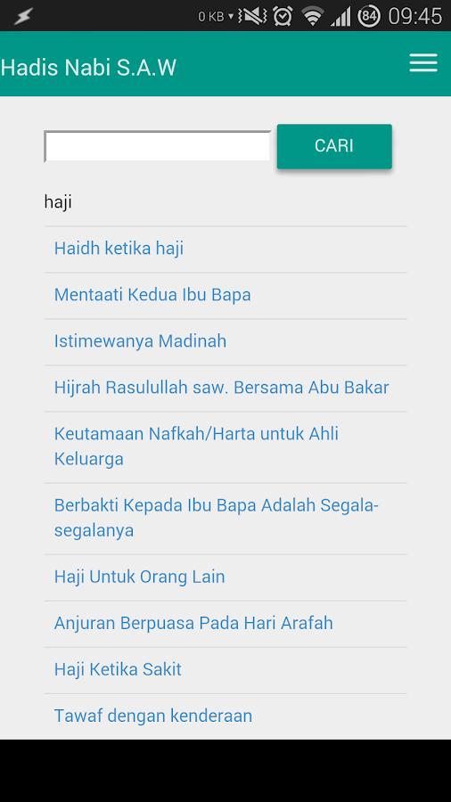 Hadis Nabi s.a.w- screenshot