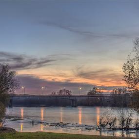 Bridge of Agen - France by Marcel de Groot - City,  Street & Park  Skylines ( agen, lot-et-garonne, france, bridge, river )