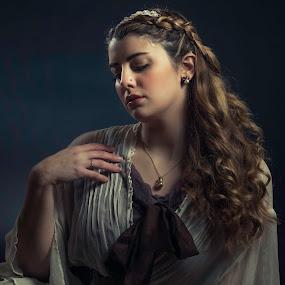 Dana Braids by Jeff Klein - People Portraits of Women ( studio, fashion, headband, braids, portrait, necklace )