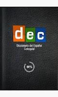 Screenshot of Diccionario del Español Coloqu