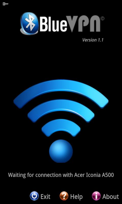 BlueVPN [DUN client] <ICS - screenshot