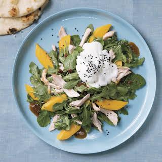 Roast Chicken and Mango Salad with Yogurt.
