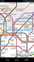 Screenshot of London Tube and Rail Map Free