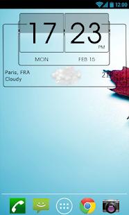 3D Flip Clock Theme Pack 06 Screenshot 4