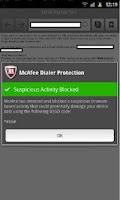Screenshot of McAfee Dialer Protection