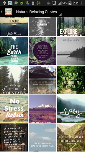 Natural Relaxing Quotes