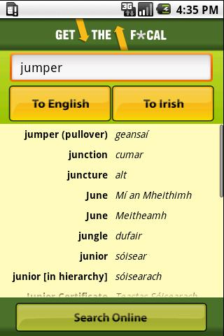 Get the Focal Irish Translator- screenshot