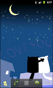 Valentine Cat Live Wallpaper - náhled