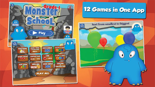Monster Grade 1 Fun Games