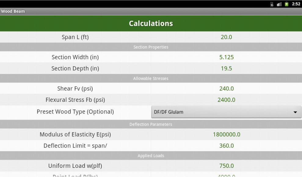 Wood Beam Calculations Android Apps On Google Play