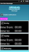 Screenshot of Live Chat Messenger